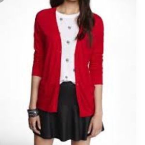 Ralph Lauren Boyfriend red cardigan. Size M